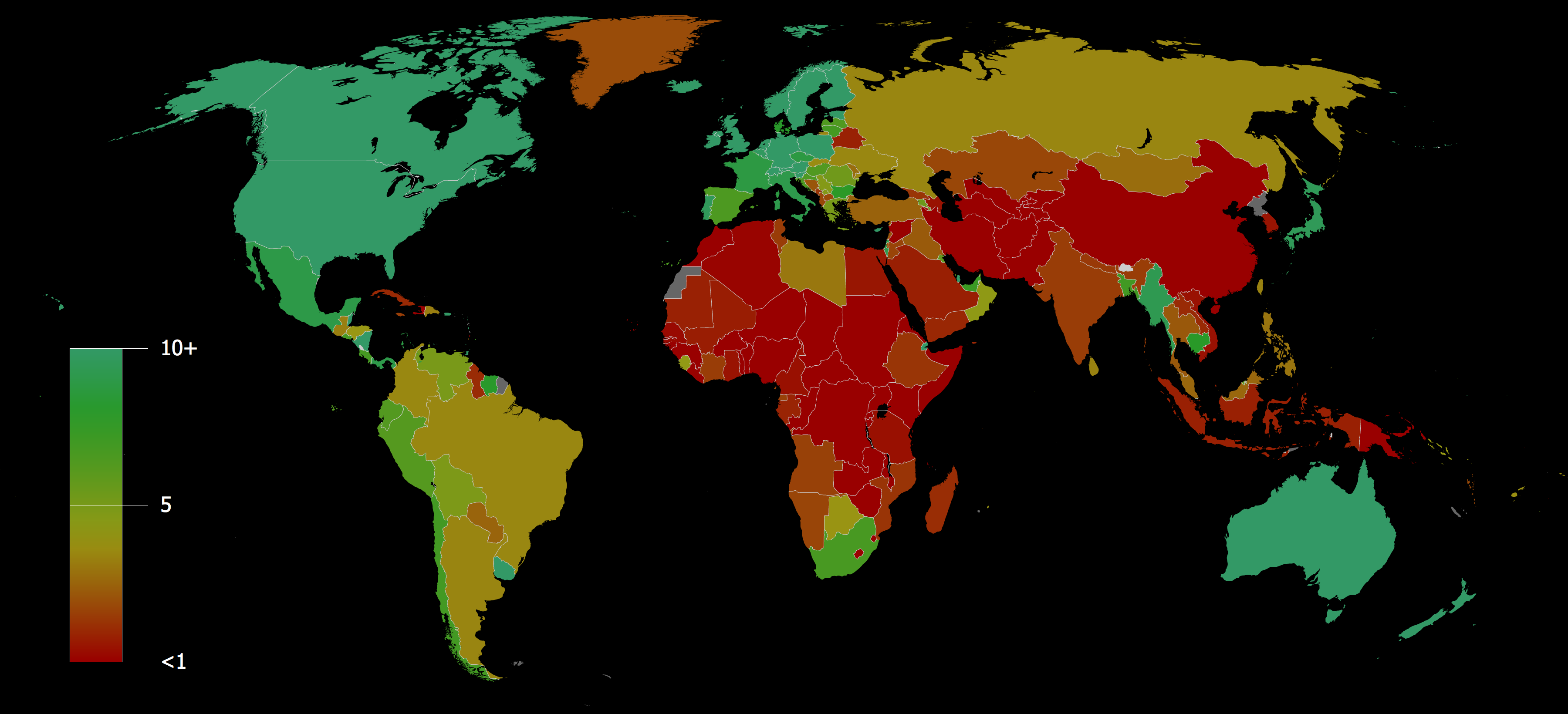 Map Of Wikipedia Usage Worldwide Stublog - World internet usage map